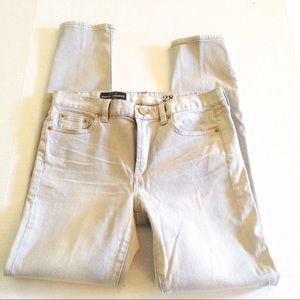 J. Crew Toothpick Jeans, Mid Rise, Pale Gray